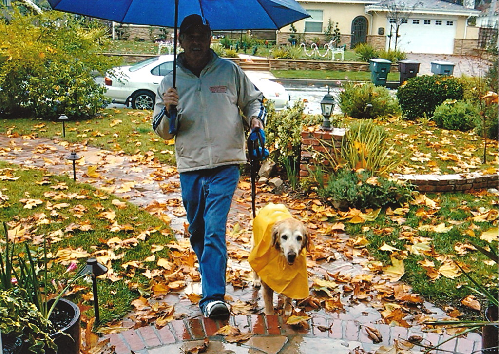 Jim and Molly Walking in the Rain, Glendale, California, 2009